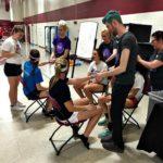 Cosmetology Students Volunteering
