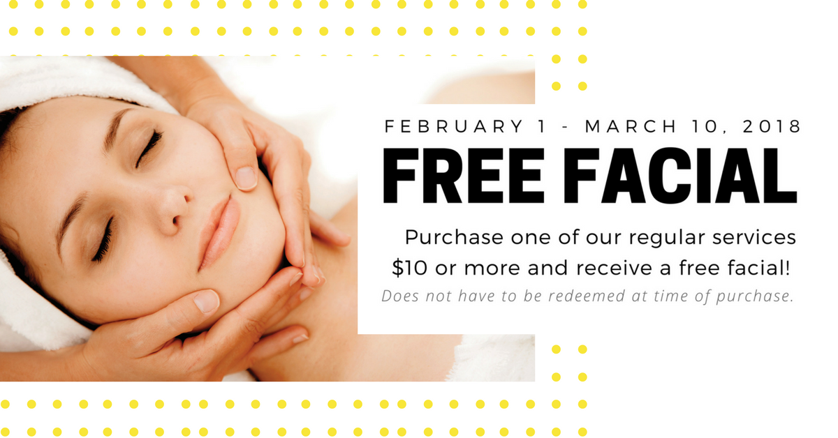 Free Facial with Service