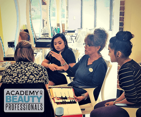 Cosmetology Instructor Teaching Students
