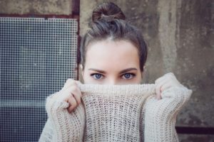 Girl in Winter Sweater