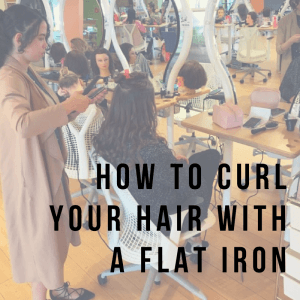 How to Curl Your Hair with a Flatiron Text